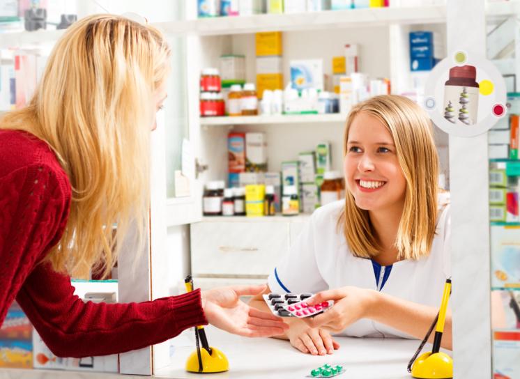 medical staff and customer